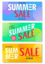 Summer Sale 50% Off on Abstract Colorful Bright Vivid Background, Fresh Stylish Decorative Patterned Vertical Pull Up Banner Set