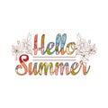 Summer sale. Original vector drawing background.