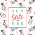 Summer Sale promotional banner template