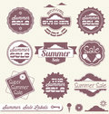 Summer Sale Retail Labels and Stickers Royalty Free Stock Images