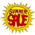 Summer sale with sun an image of a Royalty Free Stock Images