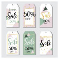 Summer Sale tags in vector