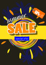 Summer sale template banner Royalty Free Stock Photo