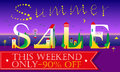 Summer Sale. This weekend only. Night beach