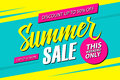 Summer Sale. This weekend special offer banner, discount 50% off. End of season. Royalty Free Stock Photo