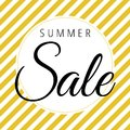 Summer sale on white and gold white background vector