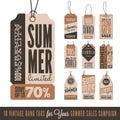 Summer Sales Hang Tags Royalty Free Stock Photo