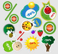 Summer sales icons Stock Photography