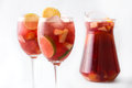 Summer sangria. Isolated photo Royalty Free Stock Photo