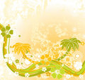 Summer scene, palms, vector Stock Image