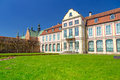 Summer scenery of abbots palace in gdansk oliwa poland Stock Photography
