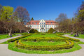 Summer scenery of abbots palace in gdansk oliwa poland Royalty Free Stock Image