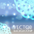 Summer sea background vector with round ornament Royalty Free Stock Images