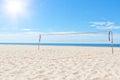 The summer sea beach volleyball court under sun Stock Photography