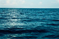 Summer sea with blue water wave. Outdoor tropical summer sea paradise.Tranquility of turquoise water