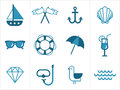 Summer sea icons Stock Images