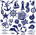 Summer sea icons Royalty Free Stock Photo