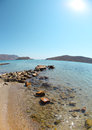 Summer sea landscape elounda crete greece beautiful Stock Photography