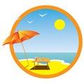 Summer, sea, rest. Stock Photos