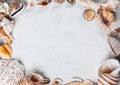Summer sea shells beautiful summer background texture beach Stock Photography
