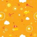 Summer seamless pattern Royalty Free Stock Photo