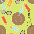 Summer seamless pattern funky with girlie elements Royalty Free Stock Images