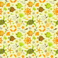 Summer seamless pattern vector illustration eps contains transparencies Royalty Free Stock Photography