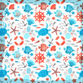 Summer seamless pattern vector illustration eps contains transparencies Stock Photos