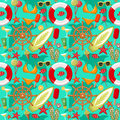 Summer seamless sea patterns. Royalty Free Stock Photo