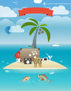 Summer seaside vacation illustration island Royalty Free Stock Photos
