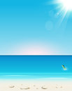 Summer seaside view holidays background Stock Photography