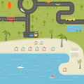 Summer season beach vacation illustration Royalty Free Stock Photo