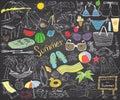 Summer Season Doodles Elements...