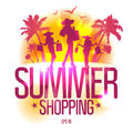 Summer shopping design template . Royalty Free Stock Photos