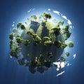 Na malé zelený planéta