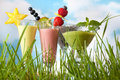Summer smoothies in the garden Royalty Free Stock Photos