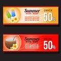 Summer snack and drink discount voucher