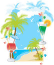 Summer Soft Drink Menu Royalty Free Stock Photography