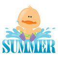 Summer Splash Graphic 1 Royalty Free Stock Photography