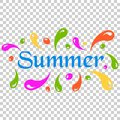 Summer splash spray vector icon in flat style. Summertime illustration on isolated transparent background. Summer wave concept.