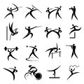 Summer sport games icons set of simple Royalty Free Stock Images