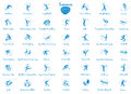 Summer sports icons set, vector pictograms