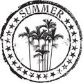 Summer stamp Royalty Free Stock Image