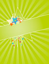 Summer star frame Royalty Free Stock Image