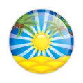 Summer sticker isolated on white vector Stock Image