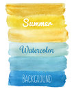 Summer striped watercolor hand draw background vector Royalty Free Stock Image