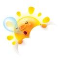 Summer sun snoring Royalty Free Stock Photo