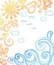 Sole e onde