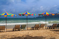 Summer sunbathe beach chair at phuket thailand Stock Image