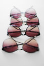 Summer sunglasses multiplied in a soft focus few latest Stock Image